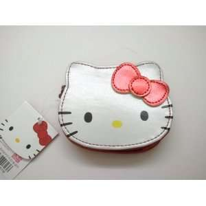 Hello Kitty Vinyl Zipper Coin Money Bag with ID Slot