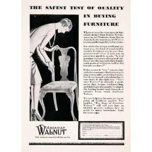 com 1929 Ad American Walnut Wood Furniture Woodwork Carpenter Joseph