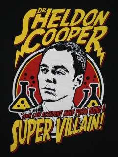 Big Bang Theory Dr. Sheldon Cooper Super Villain TV Show T Shirt Tee