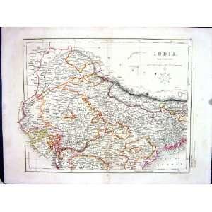 Archer College Antique Map C1875 India Calcutta Jeypoor