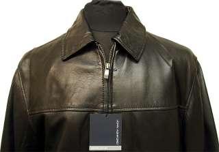 NWT John Ashford Mens James Dean Leather Jacket, BK