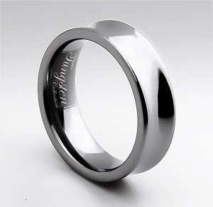 MENS TUNGSTEN CARBIDE RING WEDDING BAND (USA)