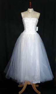 NWT Jessica McClintock White Rhinestones Tulle Dress Size 5