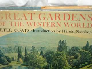 1963 GREAT GARDENS OF THE WESTERN WORLD Coats HCDJ