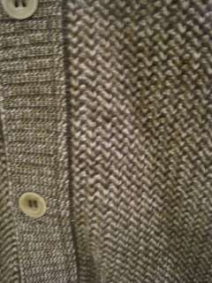 Tricots St. Raphael 100% Merino Wool Natural Color Cardigan Sweater