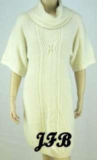 TAHARI ASL Ivory/White Sweater Dress Sz M NWT 5277