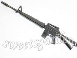 Assault Rifle M16A2 Gun Metal Keychain Bag Dangle Charm
