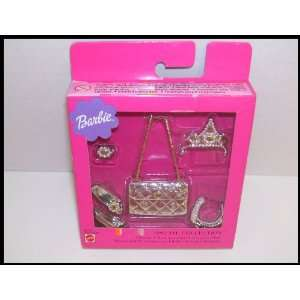 Collection Barbie Doll Silver Glamour Set with Crown Toys & Games