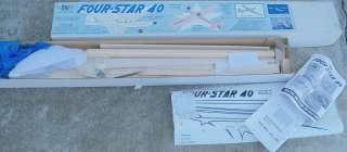 Sig Four Star .40 Trainer Balsa RC Model Airplane Kit RC 44