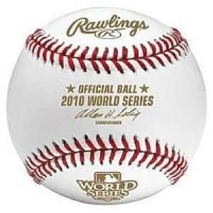 Matt Cain Signed World Series Baseball   Game 2 Stat Inscription