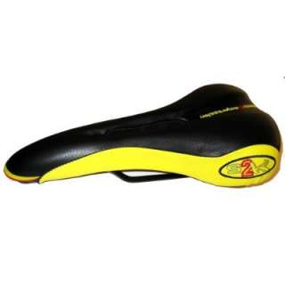 Selle Bassano Bicycle seat, Saddle, S2K Air, Black/Yellow