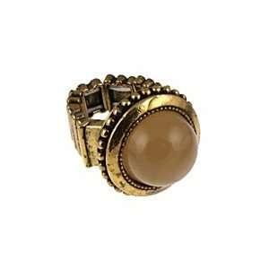 Origin Jewelry Gold Resin Gem Stretch Band Ring Jewelry
