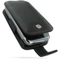 PDair Black Leather Flip Case fits HTC Touch Pro2 T7373