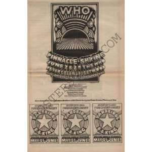 The Who Fleetwood Mac Concert Ad Poster 70 Hammersveld