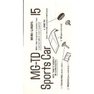 Inst Sheet MG TD Sports Car Mini Lindy: Lindberg: Books