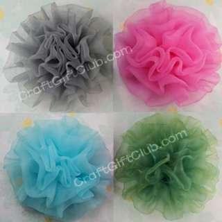 10 Mix Color Organza Carnation Flower Wedding Party 8CM