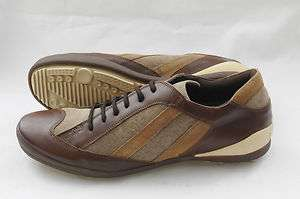 New BACCO BUCCI Italy Cafu Brown Leather Suede Sneakers Shoes 11 EE