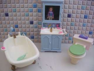 Fisher Price Loving Family Dollhouse Bathroom Vanity Claw foot Tub
