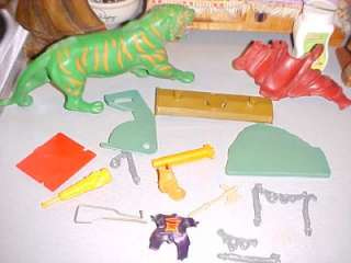 VINTAGE HE MAN MOTU Bits & Pieces w Battlecat Weapons LOT