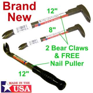 Grayvik Crow/Pry Bars,Bear Claw & Nail Puller,New