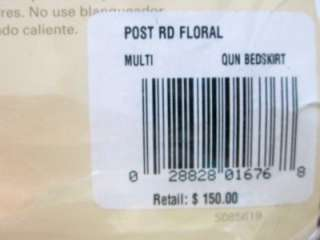 NIP $150 RALPH LAUREN POST ROAD FLORAL QUEEN BEDSKIRT