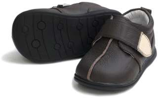 Boys Kids Toddler Childrens Infant Leather Shoes Brown