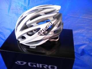 2011 GIRO ATMOS CYCLING HELMET WHITE SILVER MEDIUM