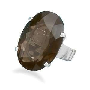 Faceted Smoky Quartz Ring (9) Jewelry