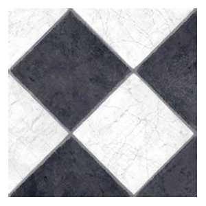 Fiber Floors Lifetime   French Marble Black/White Vinyl Flooring
