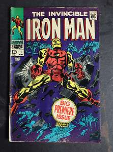 The Invincible Iron Man Comic #1 Silver Age 1968 Nice Shape NR