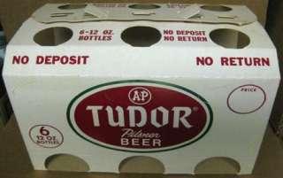 TUDOR A&P PILSNER BEER Old 6 Pack Bottle Holder, Vintage Carrier