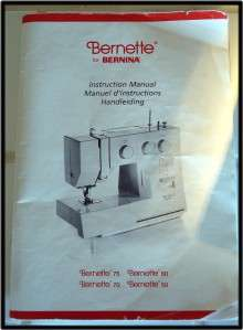 EXCELLENT BERNETTE BERNINA 75 SEWING EMBROIDERY MACHINE w/CASE MANUAL
