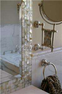 Large Mother of Pearl Wall Mirror Vanity Mantle Beach Island Sea Shell