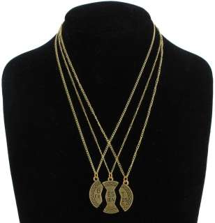 BFF 3 Part Best Friends Gold Tone Pendant Necklace