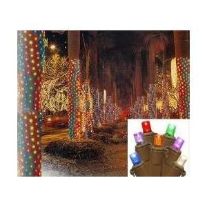 2 x 8 Multi Color LED Christmas Net Style Tree Trunk