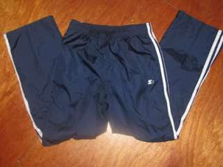 Lined Starter Navy Blue jogging exercise pants boys 2XL boys 18