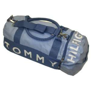 Tommy Hilfiger Big Logo Duffle Bag (Blue/gray): Clothing