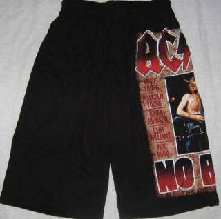 AC DC Rock Music NO BULL Black Board Shorts   Free Size   NEW