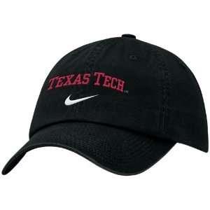 Nike Texas Tech Red Raiders Black Campus Adjustable Hat