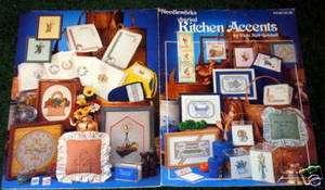 Needleworks Cross Stitch Book Blackwork Chickens Vintage Country