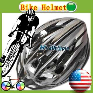 Bike Helmet Black with Silver PVC EPS Bicycle Cycling Riding sport