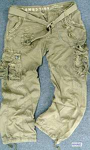 BNWT MENS and BIG&TALL MILITARY STYLE CARGO PANTS WITH BELT #7725