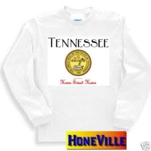 long sleeve T shirt sweatshirt TENNESSEE state seal home