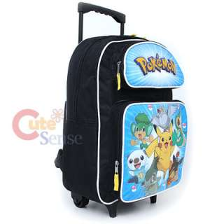 Pokemin Black and White School Roller Backpack Rolling Bag 3