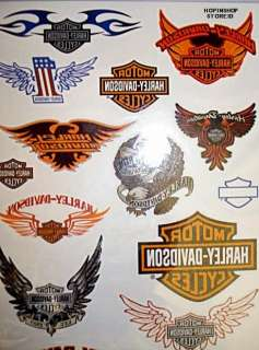 24 HARLEY DAVIDSON Kids Party Favors Temporary Tattoos