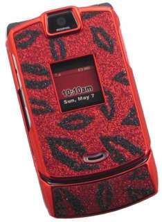 RED BLACK LIPS HARD SKIN COVER CASE FOR MOTOROLA RAZR