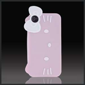 Pink Hello Kitty Face w Bow Flexa flexible silicone soft skin case