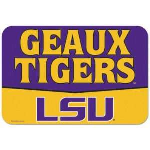 LSU TIGERS OFFICIAL LOGO 20X30 FLOOR MAT Sports & Outdoors