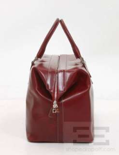 Tanner Krolle Red Leather & Silver Hardware Duffel Bag