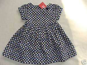 Gymboree PETITE MADEMOISELLE Navy Blue Polka Dot Dress NWT 3 6